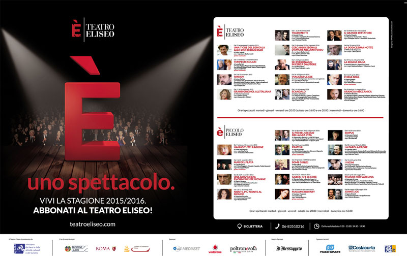 Advertising-pubblilevel-teatro-ELISEO-campagna-abbonamenti